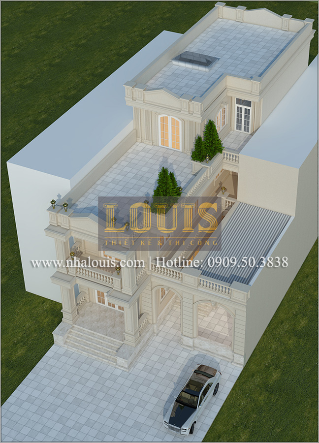Thiết kế biệt thự cổ điển kết hợp kinh doanh tại Đồng Nai diễm lệ và kiêu sa - 03