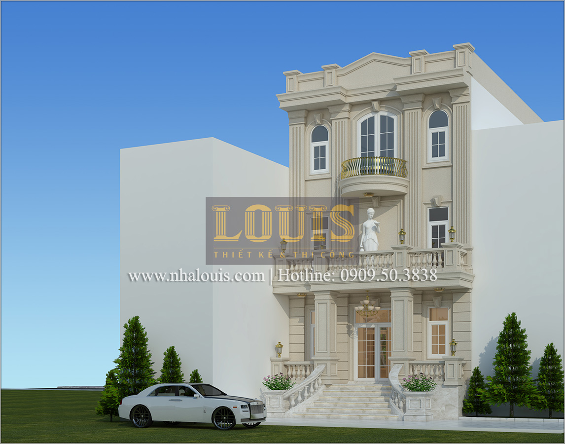 Thiết kế biệt thự cổ điển kết hợp kinh doanh tại Đồng Nai diễm lệ và kiêu sa - 04
