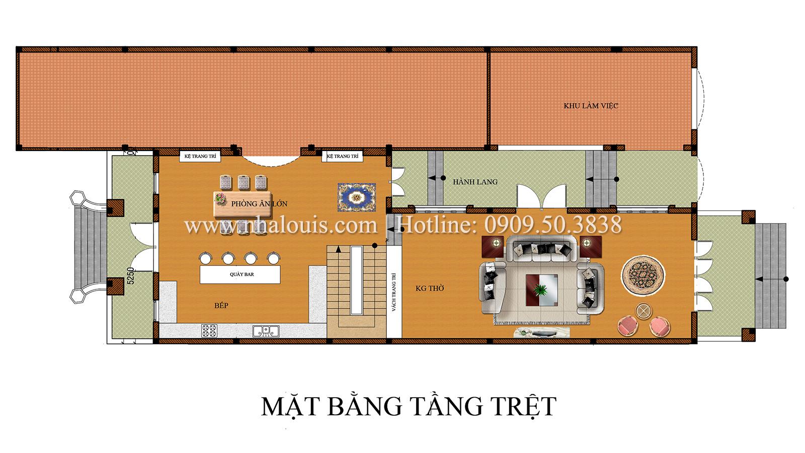 Thiết kế biệt thự cổ điển kết hợp kinh doanh tại Đồng Nai diễm lệ và kiêu sa - 05