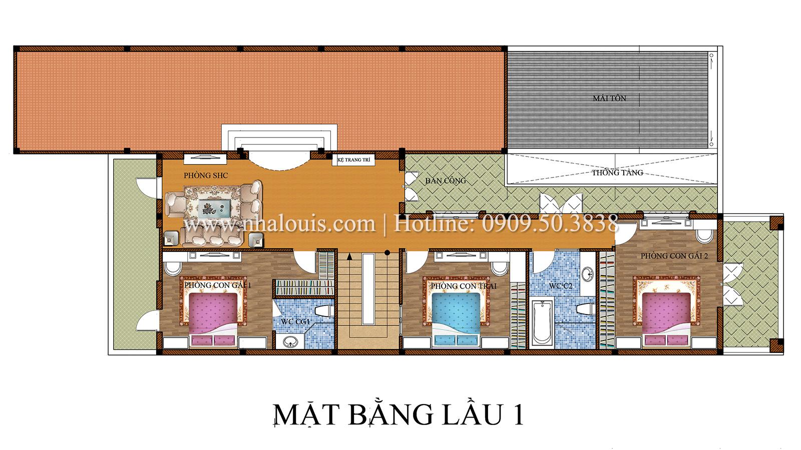 Thiết kế biệt thự cổ điển kết hợp kinh doanh tại Đồng Nai diễm lệ và kiêu sa - 15