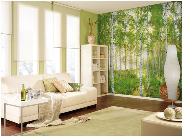 Trang trí phòng khách với tranh tường cực chất