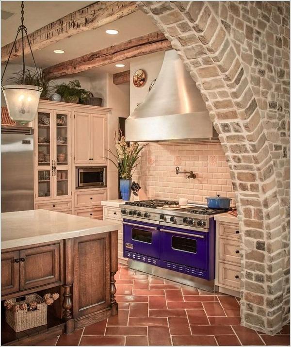 Xuyến xao với những không gian bếp màu tím