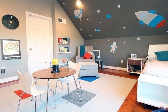 Phòng ngủ màu xám cho các bé cha mẹ nên biết