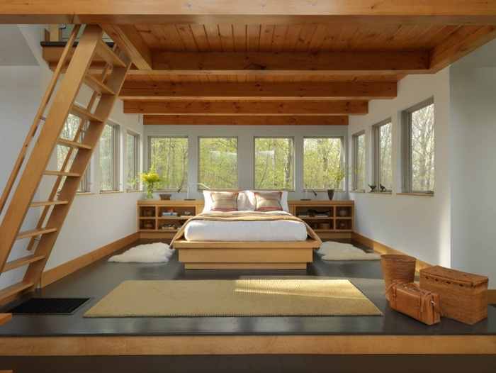 Thú vị với những phòng ngủ đặt cạnh cầu thang
