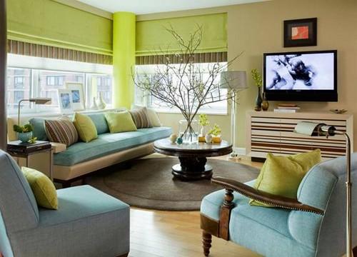 Cách phối màu cho phòng khách đẹp sang trọng