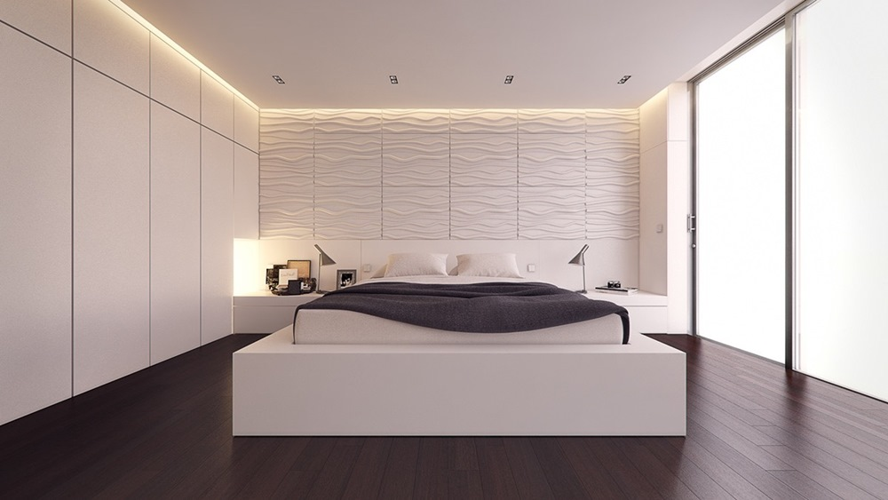 Chọn ánh sáng làm người đồng hành, phòng ngủ màu trắng đẹp mê ly
