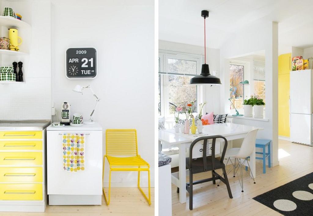 Thiết kế phòng bếp màu vàng chanh nổi bật ấn tượng - 02
