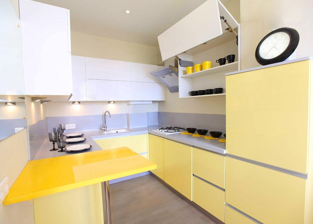 Thiết kế phòng bếp màu vàng chanh nổi bật ấn tượng - 03
