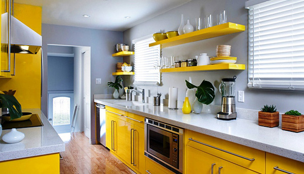 Thiết kế phòng bếp màu vàng chanh nổi bật ấn tượng - 05
