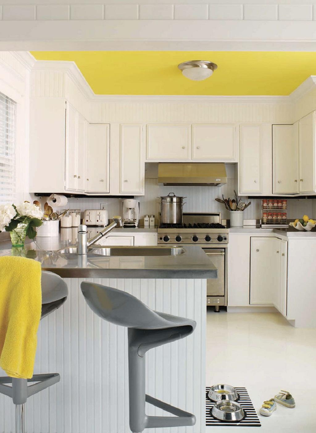 Thiết kế phòng bếp màu vàng chanh nổi bật ấn tượng - 06