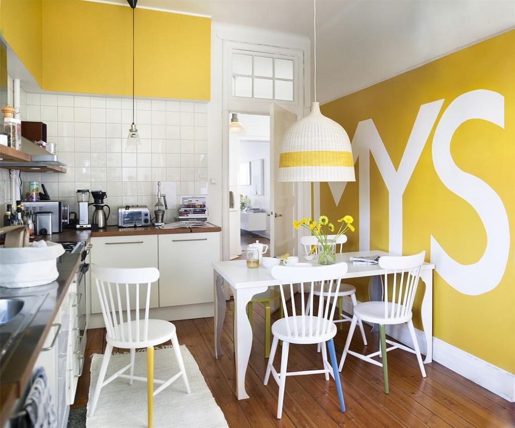 Thiết kế phòng bếp màu vàng chanh nổi bật ấn tượng - 07