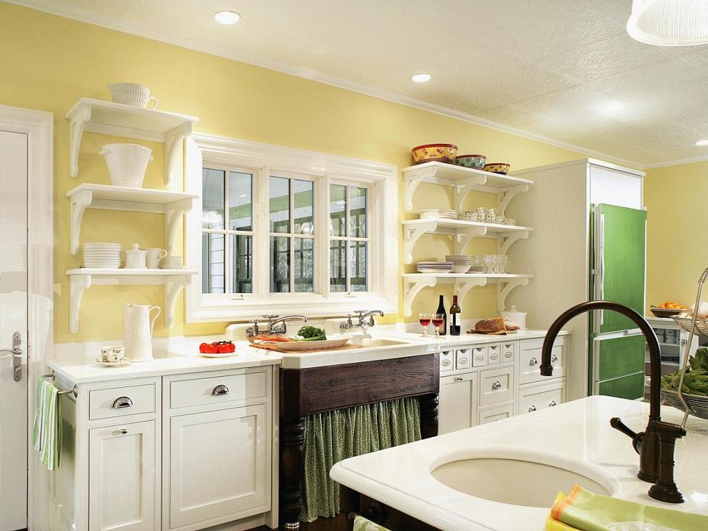 Thiết kế phòng bếp màu vàng chanh nổi bật ấn tượng - 08