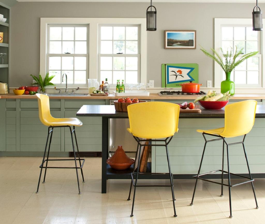 Thiết kế phòng bếp màu vàng chanh nổi bật ấn tượng - 09