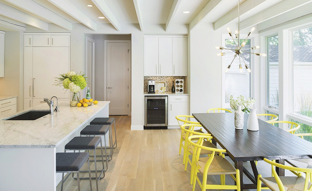 Thiết kế phòng bếp màu vàng chanh nổi bật ấn tượng - 10