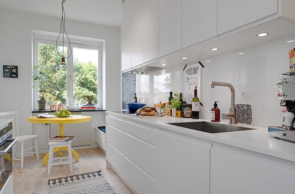 Thiết kế phòng bếp màu vàng chanh nổi bật ấn tượng - 11