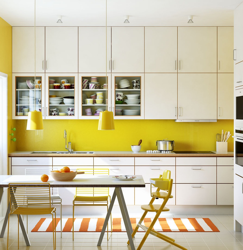 Thiết kế phòng bếp màu vàng chanh nổi bật ấn tượng - 12