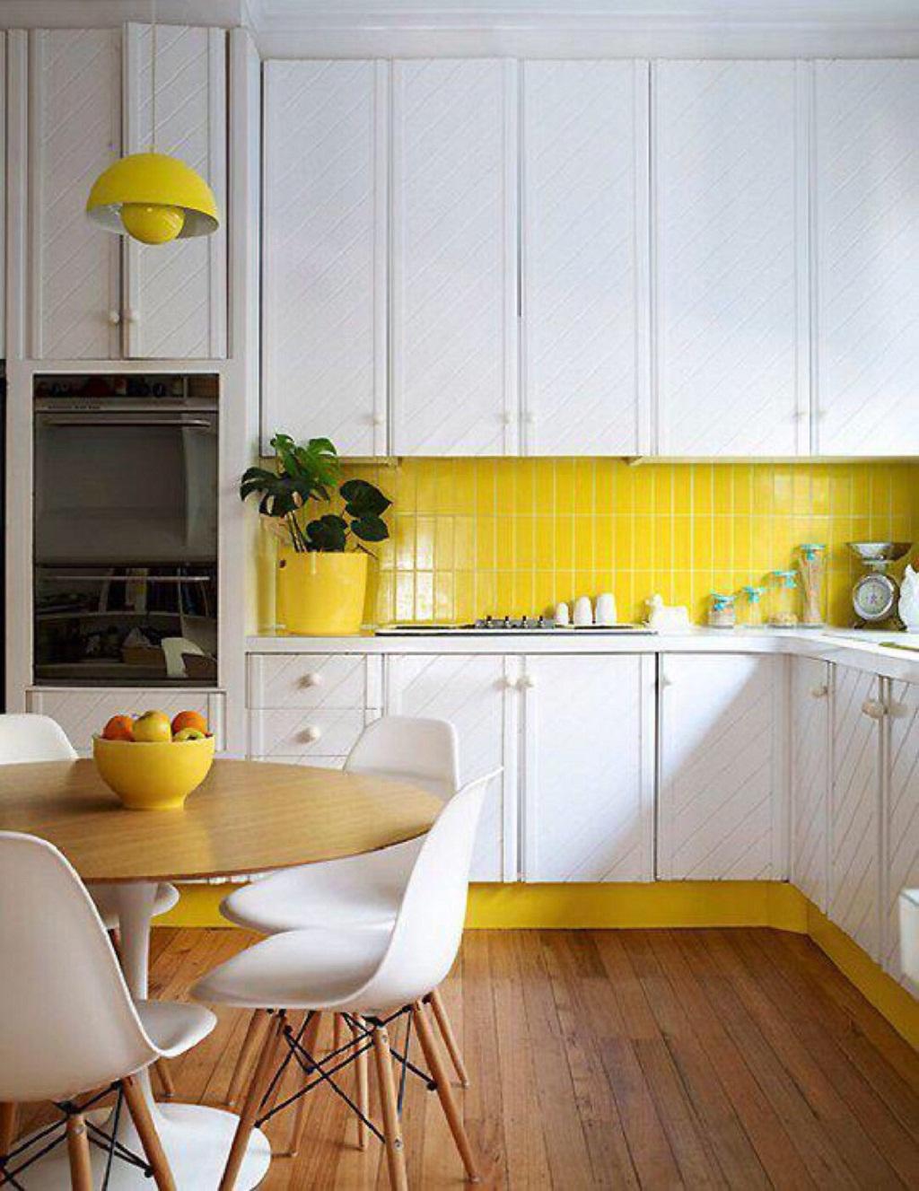 Thiết kế phòng bếp màu vàng chanh nổi bật ấn tượng - 13