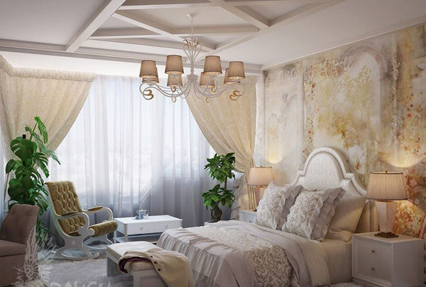 15 mẫu thiết kế phòng ngủ kiểu Pháp chuẩn tinh tế và lãng mạn - 14