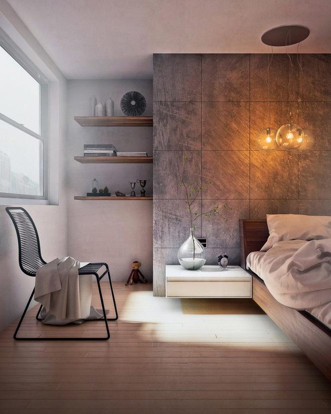 Thiết kế phòng ngủ màu xám nhưng không hề u ám - 01