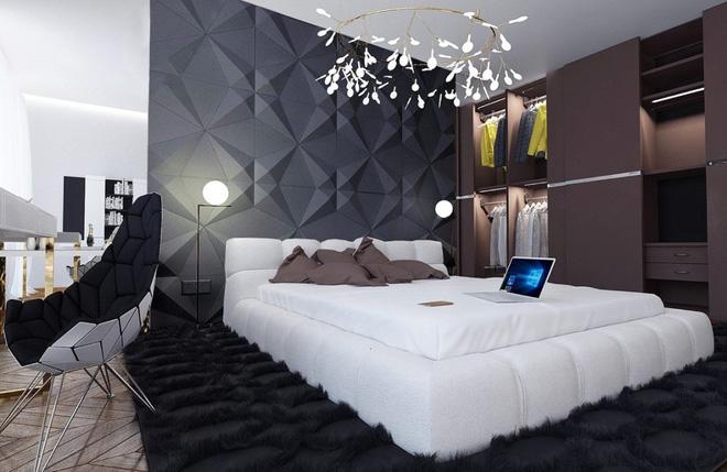Thiết kế phòng ngủ màu xám nhưng không hề u ám - 02