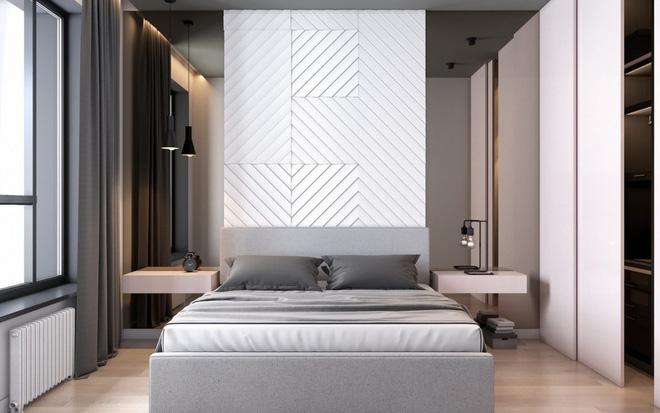 Thiết kế phòng ngủ màu xám nhưng không hề u ám - 05