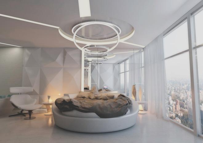Thiết kế phòng ngủ màu xám nhưng không hề u ám - 06