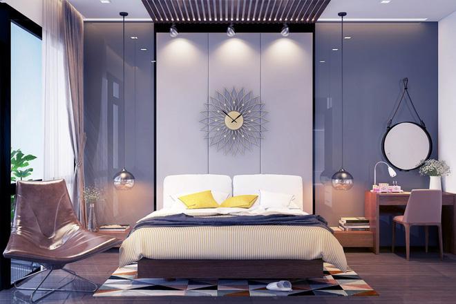 Thiết kế phòng ngủ màu xám nhưng không hề u ám - 07