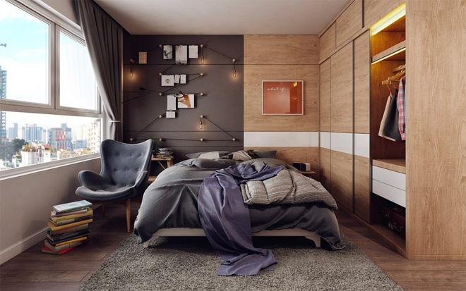 Thiết kế phòng ngủ màu xám nhưng không hề u ám - 12