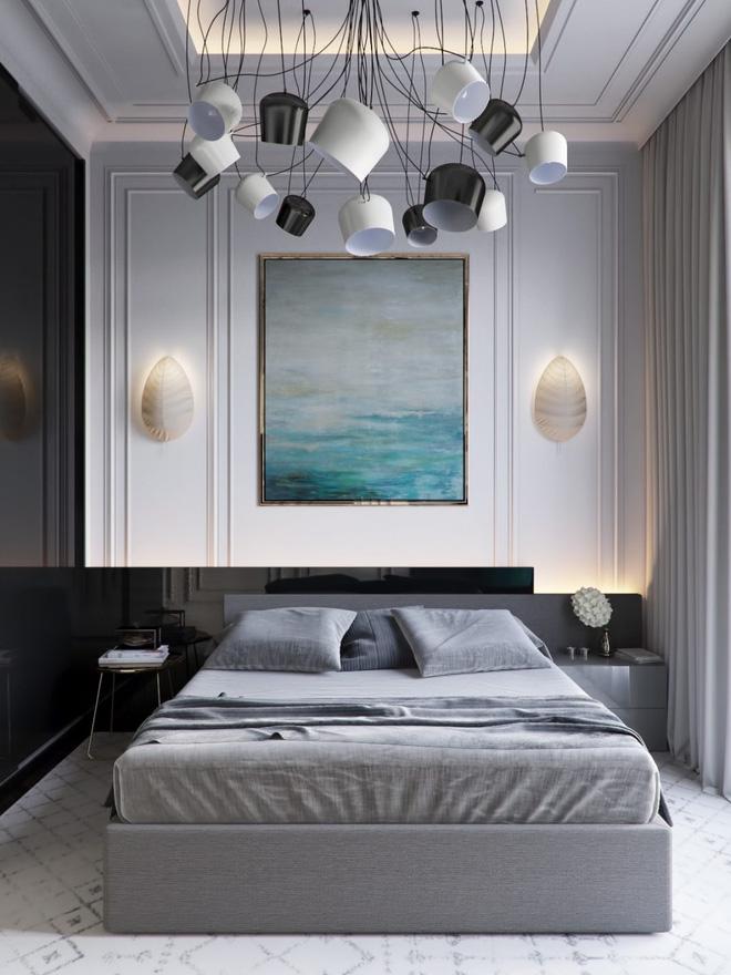 Thiết kế phòng ngủ màu xám nhưng không hề u ám - 13