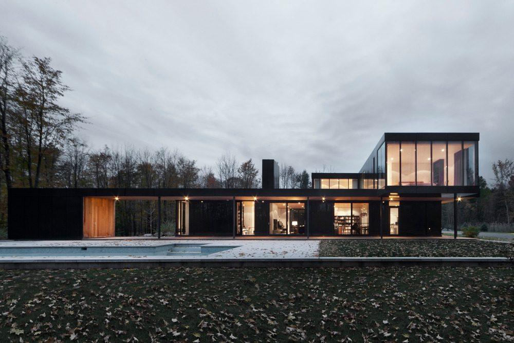 Biệt thự nghỉ dưỡng hiện đại tại Canada - Rosenberry Residence - 01