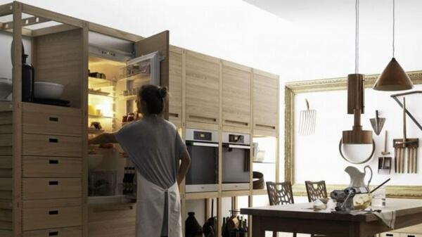 Thiết kế phòng bếp nội thất gỗ tự nhiên đẳng cấp và sang trọng - 01