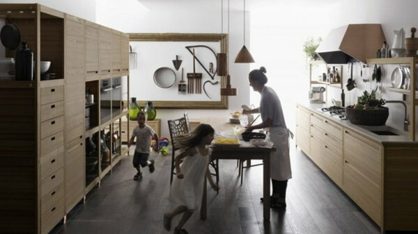 Thiết kế phòng bếp nội thất gỗ tự nhiên đẳng cấp và sang trọng - 03