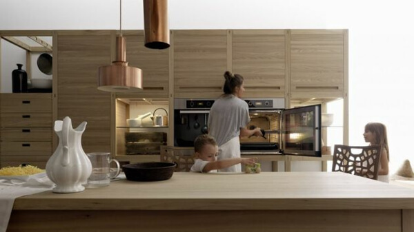 Thiết kế phòng bếp nội thất gỗ tự nhiên đẳng cấp và sang trọng - 04