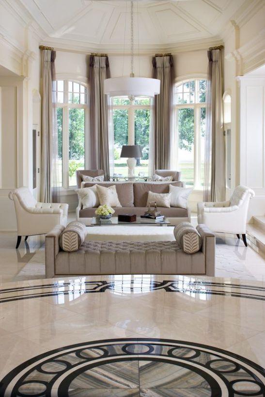 Mẫu thiết kế phòng khách đẹp hút mắt cho biệt thự cổ điển