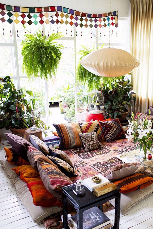 Thiết kế phòng khách phong cách Bohemian cực ấn tượng - 02