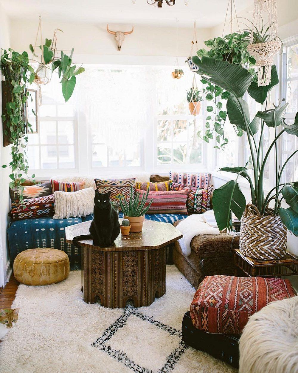 Thiết kế phòng khách phong cách Bohemian cực ấn tượng - 09
