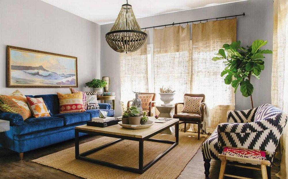 Thiết kế phòng khách phong cách Bohemian cực ấn tượng - 12
