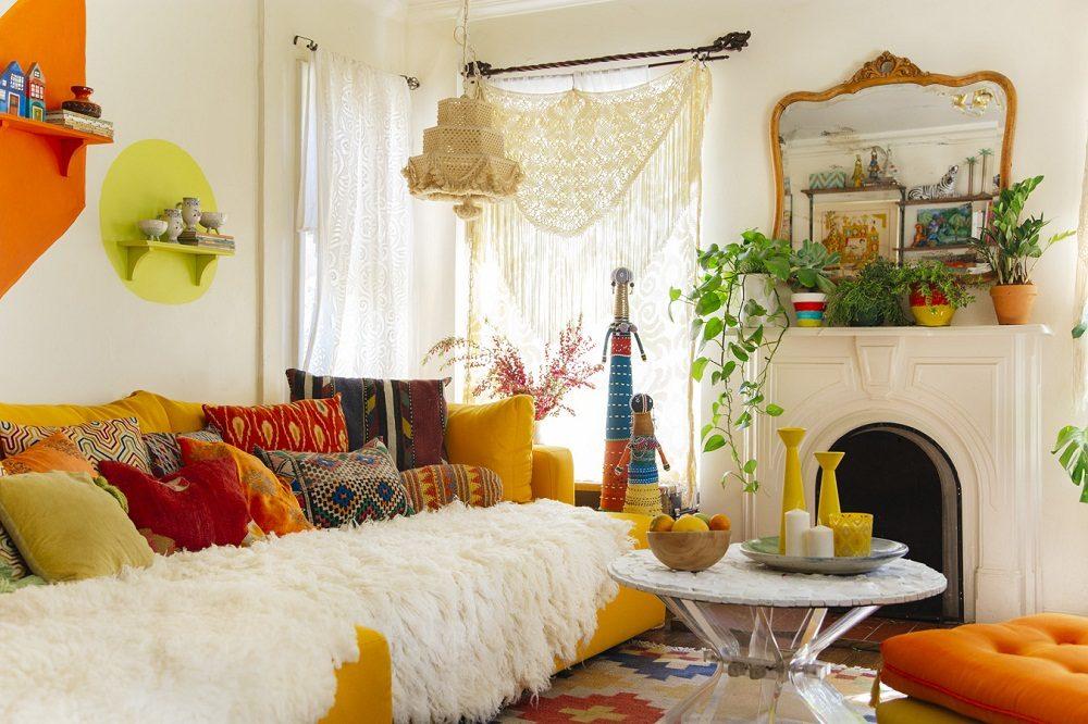 Thiết kế phòng khách phong cách Bohemian cực ấn tượng - 15
