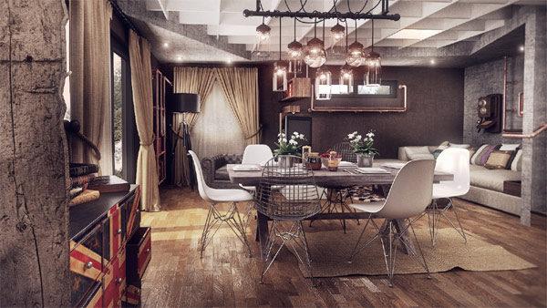 Thiết kế phòng khách phong cách vintage cho biệt thự của bạn - 11