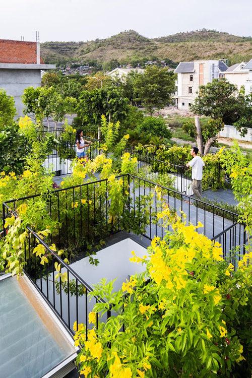 Thiết kế vườn trên sân thượng cho biệt thự ở Nha Trang - 05