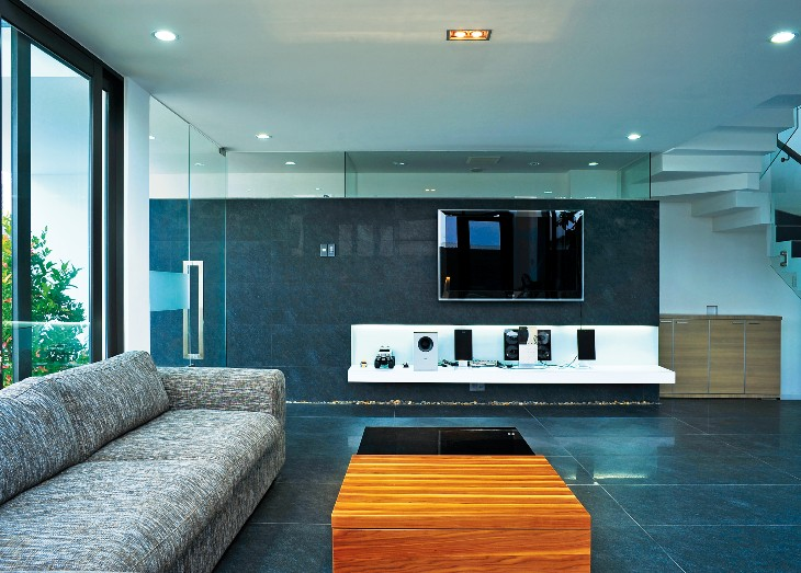 Biệt thự 2 tầng thiết kế như những khối hộp chồng lên nhau