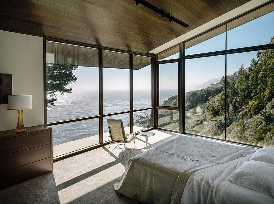Biệt thự phong cách hiện đại với kính, gỗ và thép