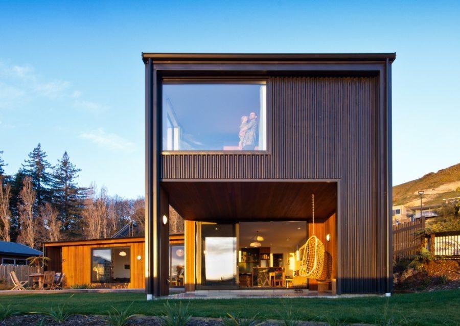 Biệt thự hình khối xây dựng bằng chất liệu lạ
