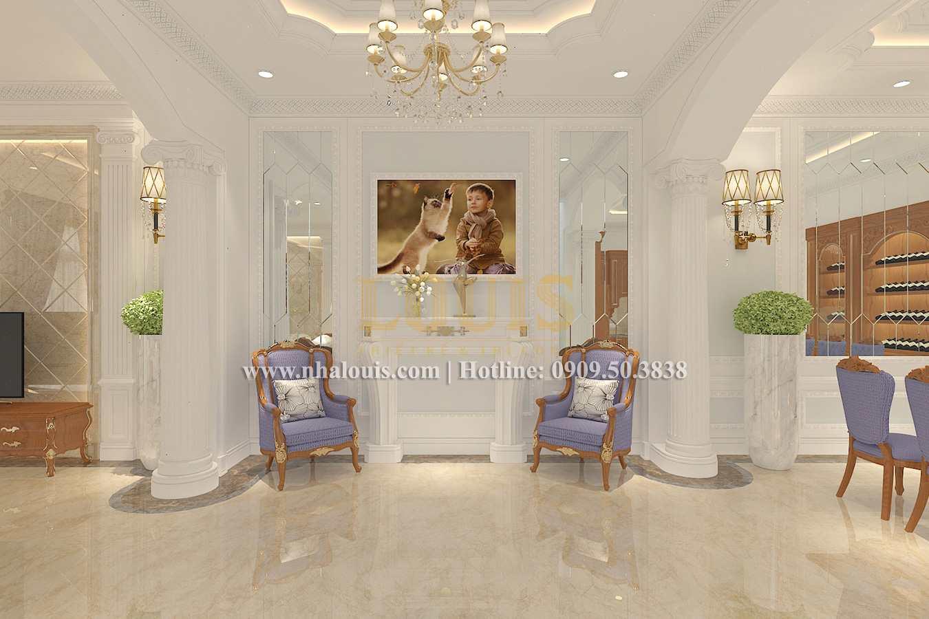 Phòng khách Biệt thự phong cách cổ điển châu Âu tại Bến Tre chuẩn đẳng cấp - 05