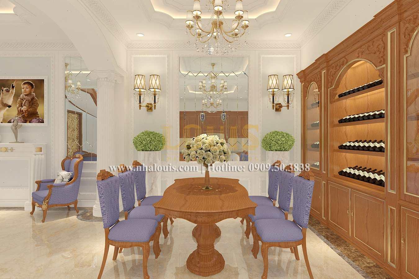 Bếp và phòng ăn Biệt thự phong cách cổ điển châu Âu tại Bến Tre chuẩn đẳng cấp - 06