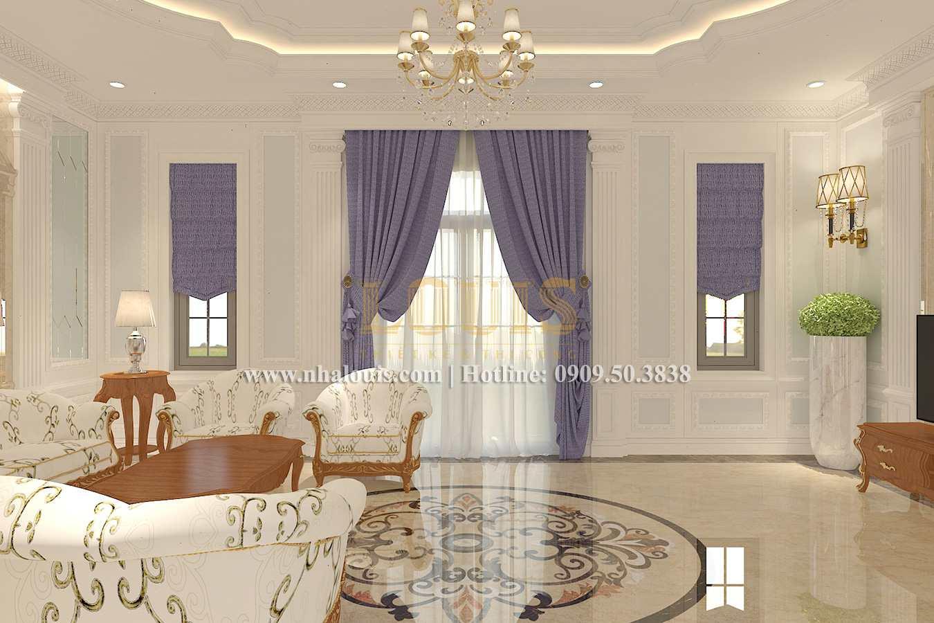 Phòng khách Biệt thự phong cách cổ điển châu Âu tại Bến Tre chuẩn đẳng cấp - 08