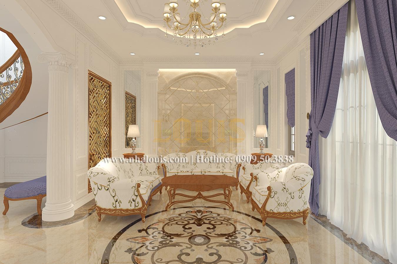 Phòng khách Biệt thự phong cách cổ điển châu Âu tại Bến Tre chuẩn đẳng cấp - 09