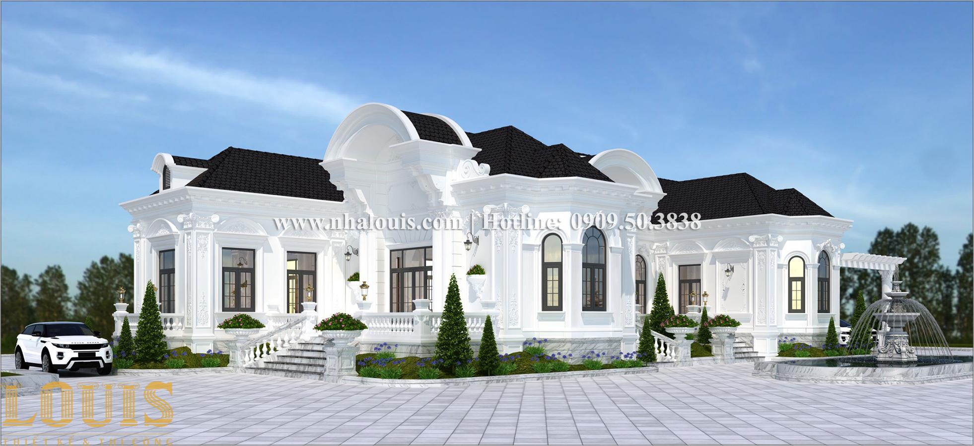 Mặt tiền Biệt thự vườn phong cách châu Âu tại Bình Phước chuẩn thượng lưu - 02