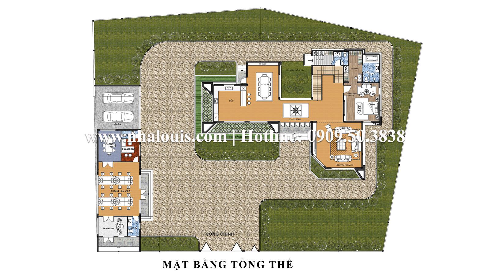 Mặt bằng tổng thể Mẫu biệt thự 2 tầng hiện đại và tinh tế tại đảo Phú Quốc - 09