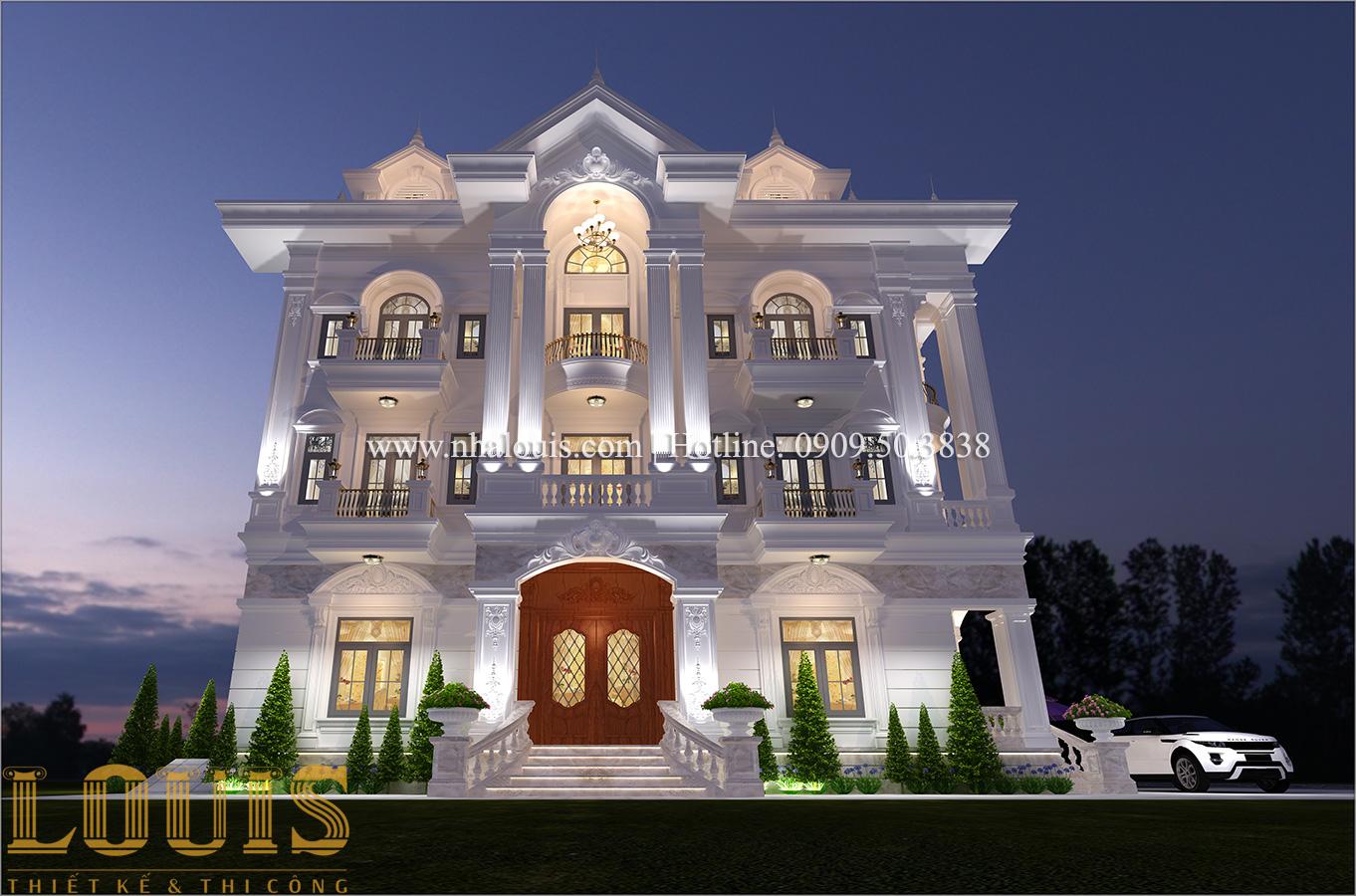 Mặt tiền Mẫu biệt thự 4 tầng phong cách tân cổ điển nổi bật tại Thanh Hóa - 02